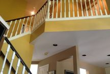 Light and Dark Painted Staircases