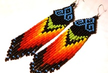 native american earrings / native american pattern earrings and more