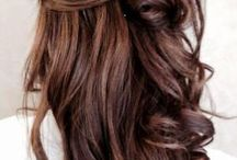 brown hair with highlights / Hair
