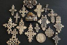Ethiopian/Coptic crosses, Telsum beads & amulets
