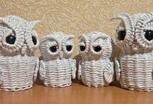 pletení z papíru / pletení