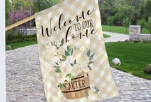 Custom Gifts & Accessories / home goods, yard, outside decor, home decor, yard flags, garden flags, yard decoration, porch decoration, farmhouse style, shabby chic style, preppy style, garden gift, mom gifts