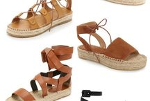 Espadrille Shoes for Shoeaholics / Espadrille sandals remind us of Spring and Summer. Bring on the warm weather with espadrilles!