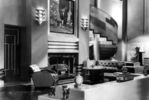 Art Deco Interiors and Sets / I don't know why I love these so...Totally not the way I live, but fabulous!  I guess I'd get to slink glamorously all over the place. / by Laurie