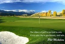 Inspiring Golf Quotes / Golf is your life? The way you express yourself? Take some of this inspirational words to spread Golf's religion around.