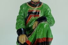 Imperial Porcelain St. Petersburg ceramic figure of Mandarin. Designed  by Pavel P. Kamensky / Imperial Porcelain St. Petersburg ceramic figure of Mandarin. Designed  by Pavel P. Kamensky at the request of Tsar Nicholas II. Potted to celebrate Russia's diverse culture. From the Nationalities of Russia series dated 1907 height 24cm