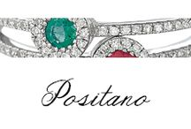 Positano / #Bibigi #Anelli, #Collane, #Orecchini in #oro bianco e #diamanti,#smeraldi, #zaffiro e #rubini