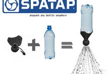 SpaTap Pocket Camp Shower / SpaTap is a pocket sized, flexible, portable eco-friendly shower and hand wash device. Simply attach to any bottle to give a controllable shower or tap. Use with recycled plastic bottles or new water bottles. Keep it in your rucksack, camping gear, handbag, car, baby buggy, sports kit, survival, kit never be without a wash again!