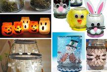 Baby food Jar Crafts!!