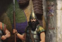 assyrian warriors an lords