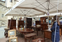 Arezzo, Tuscany / Antique fair, largest in Europe, held first Sunday of every month