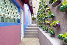 Gardening with recycled bottles