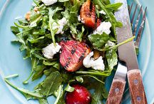 SALADS. / Delicious & healthy salads focusing on whole grains and lots of veggies