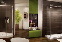 Bathroom shower enclosure',
