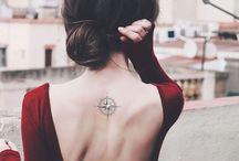 Mandala tattoo compass