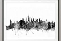 I ♥ NYC / New York City  / by Artfire.com