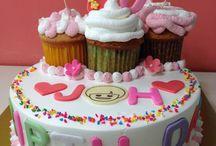 Cake / Cake. 생크림케이크.  2단 케이크. 머핀