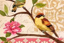 kuş temalı dekupajlar