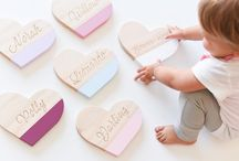 Custom name sweet hearts / Personalised wooden hearts