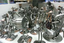 metalen beeldjes