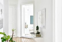 Hallways +  Wood Floors + Doors + Entry / Organic, scandinavian, farmhouse, reclaimed wood, natural