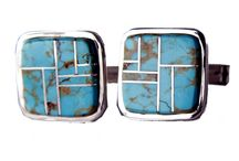 Cufflinks! / Sterling Silver and stone inlay cuff links from Tom Taylor!