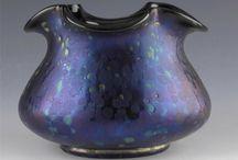 Vase Oilspots purple