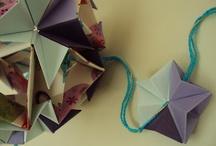Dobrinhas / Origami dobradinho por Eva Duarte.  Recife - PE - Brasil