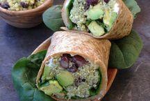 Quinoa Wrap with Avocado and Black Beans / Wrap