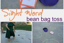 Sight words / Bean bag toss