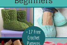Crocheted slippers / slippers