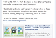 Only On Facebook! / by DonorShare of Palatine