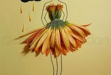 Flower Art / Woman Dress