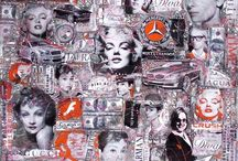Pop Art Original paintings onBox  Canvas by Wlad / Femme Fatal series from £595