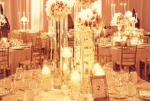 Wedding Decor or Centerpieces / Inspiration for table decor, linens, and other details to spice up the venue for your wedding