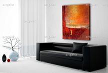Cuadros modernos abstractos / Cuadros modernos abstractos, propuesta interesante para decorar la casa