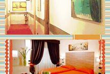 Summer / orange room with welcome drink