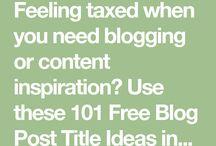 Blog Content Advice