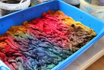 Dye fabric and yarn / Färga tyg och tråd