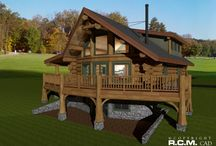 1879 Nordegg / © R.C.M. Cad Design Drafting Ltd. 1879 sq ft - Nordegg RCM CAD DESIGN DRAFTING LTD is an architectural design firm primarily specializing in log and timber construction projects.