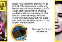 Våra puffar / Dessa böcker finns hos bokarken.se. Antingen som E-bok eller ljudbok. Kolla på www.bokarken.se