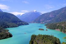 """North Cascades Scenic Highway / As the North Cascades Scenic Byway loops between massive peaks and along lakes colored turquoise by glacial silt, you'll see why these mountains are called """"the American Alps."""""""