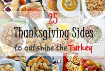 "Thanksgiving Recipes / 25 Thanksgiving Sides to Outshine the Turkey and ""15 days to Thanksgiving"" Event. You can send me a request to add you to this board to share your recipes!!"