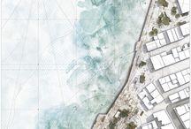 architecture presentation. / architecture illustrations | visualizations | architecture collages