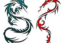 Tattoos / A selection of dragon and Celtic tattoos