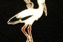 Volmer bahner / Sølv emalje