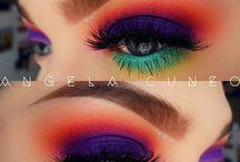 Colourful Eye Makeup Eyeshadows