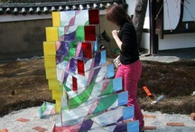 My works(I create fantastic night) / I direct the stage of the light with stained glass