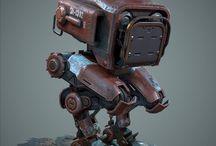 Cartoony robots