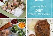Diet Mini Menu January 2015 / Add a healthful spin to your dinnertime fare with this Diet Mini January 2015 Menu filled with classic dishes like salisbury steak and teriyaki chicken that still pack all the flavor but fewer calories. / by Once A Month Meals